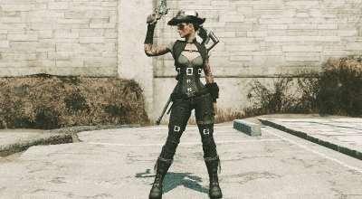 Fallout 4 — Стимпанк наряд дуэлянта для девушек (Ванилла / CBBE) | Fallout 4 моды