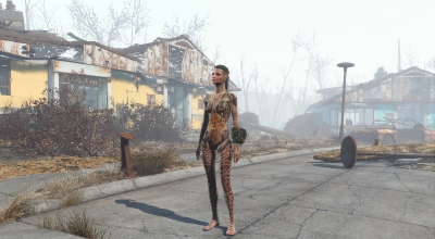 Fallout 4 — Татуировки Джек из Mass Effect (для CBBE) | Fallout 4 моды