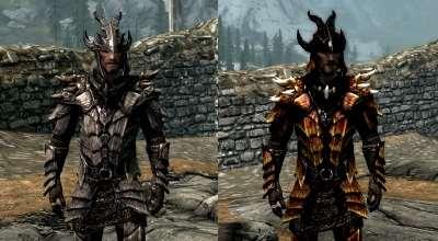 Skyrim — Текстуры Брони Дракона | Skyrim моды