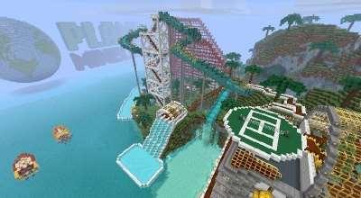 Minecraft — Карта «Olann Island» / Остров с развлечениями | Minecraft моды
