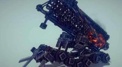 Besiege — Дальнобойный танк с огненными шарами | Besiege моды