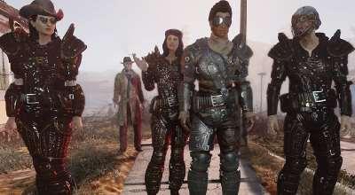 Fallout 4 — Реалистичная кожаная броня   Fallout 4 моды