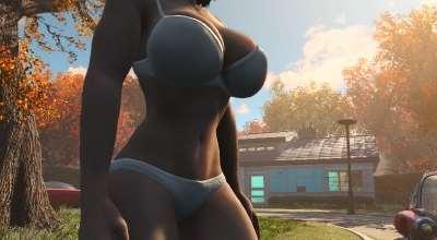 Fallout 4 — Новое тело для девушек «Atomic Beauty» | Fallout 4 моды