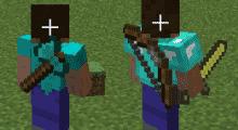 Minecraft — Back Tools / Оружие и инструменты за спиной | Minecraft моды