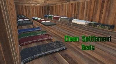 Fallout 4 — Чистые кровати для поселений   Fallout 4 моды