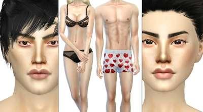 Sims 4 — Недефолтный скин FIT Skin Overlay Asian | The Sims 4 моды