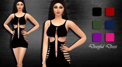 Sims 4 — Откровенное платье | The Sims 4 моды