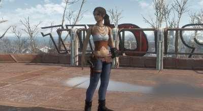 Fallout 4 — Наряд Стрелка / Gunslinger Outfit — CBBE Bodyslide | Fallout 4 моды