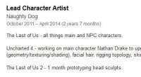 Работа над The Last of Us 2 значится в резюме одного из бывших сотрудников Naughty Dog