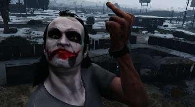 GTA 5 — Лицо Джокера (Joker Texture) | GTA 5 моды