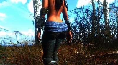 Fallout 4 — Новая анимация походки для девушек / Better Female Walk | Fallout 4 моды