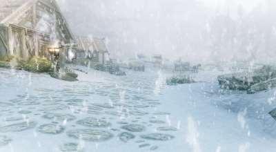 Skyrim — Улучшенный снег (динамическая погода)   Skyrim моды