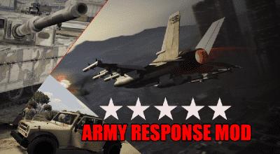 GTA 5 — Армия и федералы при достижении 5 звезд / Army & Federal Response | GTA 5 моды