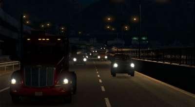 ATS — Новый эффект от фар и фонарей освещения | American Truck Simulator моды