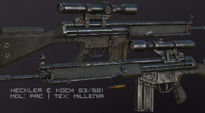 Fallout: New Vegas — HK G3SG1 | Fallout New Vegas моды