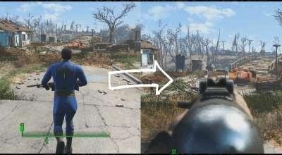 Fallout 4 — Прицеливание от 1го лица при игре от 3го лица | Fallout 4 моды