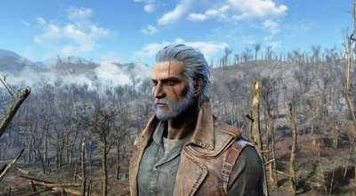 Fallout 4 — Геральт из Ривии | Fallout 4 моды