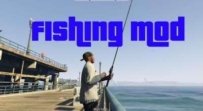 GTA 5 — Рыбалка (Fishing Mod)   GTA 5 моды