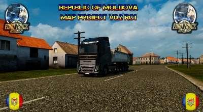 ETS 2 — Карта Республики Молдовы (Republic of Moldova Map) | ETS2 моды
