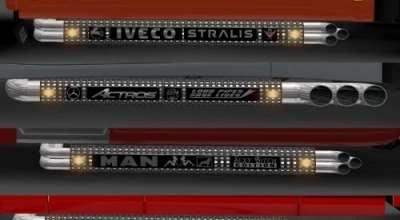 ETS 2 — Новые выхлопные трубы в тюнинге (Exhausts for Trucks) | ETS2 моды