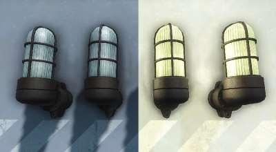 Fallout 4 — Ретекстур промышленных настенных светильников | Fallout 4 моды