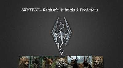 Реалистичное поведение животных и хищников / SkyTEST — Realistic Animals and Predators | Skyrim Special Edition моды