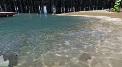 GTA 5 — Экстремально качественная вода (8k + 11k [High Quality] Blue Water) | GTA 5 моды