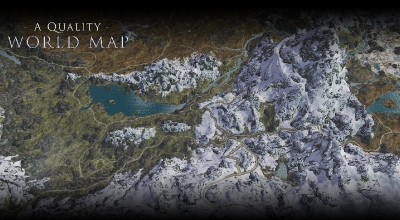 Skyrim SE — Улучшенная игровая карта / A Quality World Map | Skyrim Special Edition моды