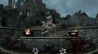 Skyrim сексуальные статуи