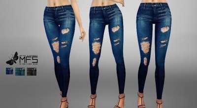Sims 4 — Стильные рваные джинсы | The Sims 4 моды