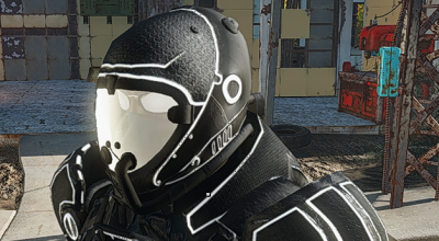 Fallout 4 — Черная стальная боевая броня и летный шлем   Fallout 4 моды