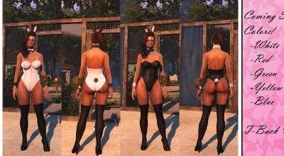 Fallout 4 — Костюм кролика (CBBE) | Fallout 4 моды