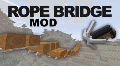 Minecraft — Веревочный мост | Minecraft моды