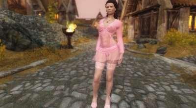 Skyrim — Pink clothes UNP-HDT(Розовая одежда) | Skyrim моды