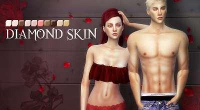 Sims 4 — Недефолтный скинтон PS Diamond Skins | The Sims 4 моды