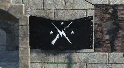 Fallout 4 — Черный флаг Минитменов (Minutemen Flag — Re-Colors) | Fallout 4 моды