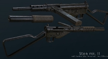 Fallout NV — Sten Mark MK II   Fallout New Vegas моды