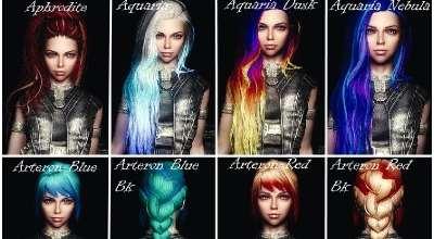 Skyrim — Многоцветные текстуры волос для KS Hairdos | Skyrim моды