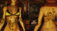Skyrim — набор татуировок для девушек (CBBE/UNP) | Skyrim моды