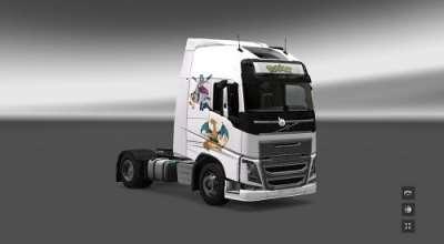 ETS 2 — Новый скин для Volvo FH (Volvo FH 2012 Pokemon Skin) | ETS2 моды
