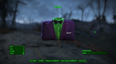 Fallout 4 — Смокинг Джокера (Joker Tuxedo) | Fallout 4 моды