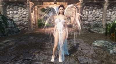 Skyrim — одежда Ангел (UNP-HDT) | Skyrim моды