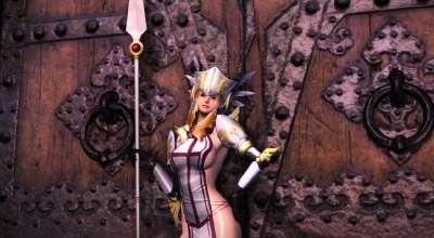 Oblivion — Броня крусадера (Whorish Crusader Armor) | Oblivion моды