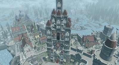 Skyrim — Огромная башня Императора в Солитьюде | Skyrim моды