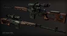 Fallout NV — Снайперская винтовка Драгунова (SVD) | Fallout New Vegas моды