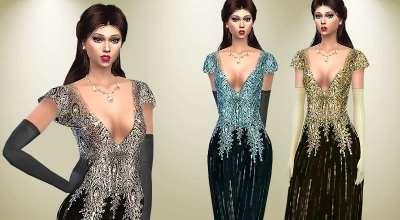Sims 4 — Элегантное платье | The Sims 4 моды