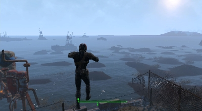 Fallout 4 — Супер прыжки и отключение урона от падения   Fallout 4 моды