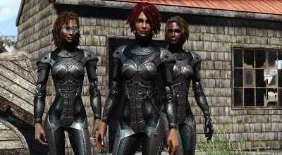 Fallout 4 — новая броня для девушек «Сириус» | Fallout 4 моды