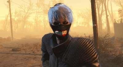 Fallout 4 — Токийский Гуль (Маска хирурга)   Fallout 4 моды