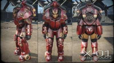 Fallout 4 — X-01 Железный Человек | Fallout 4 моды